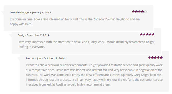 reviews for roofers in fremont ca